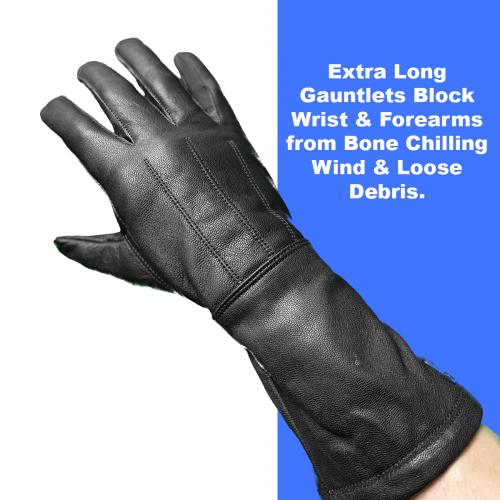 Gauntlet style glove