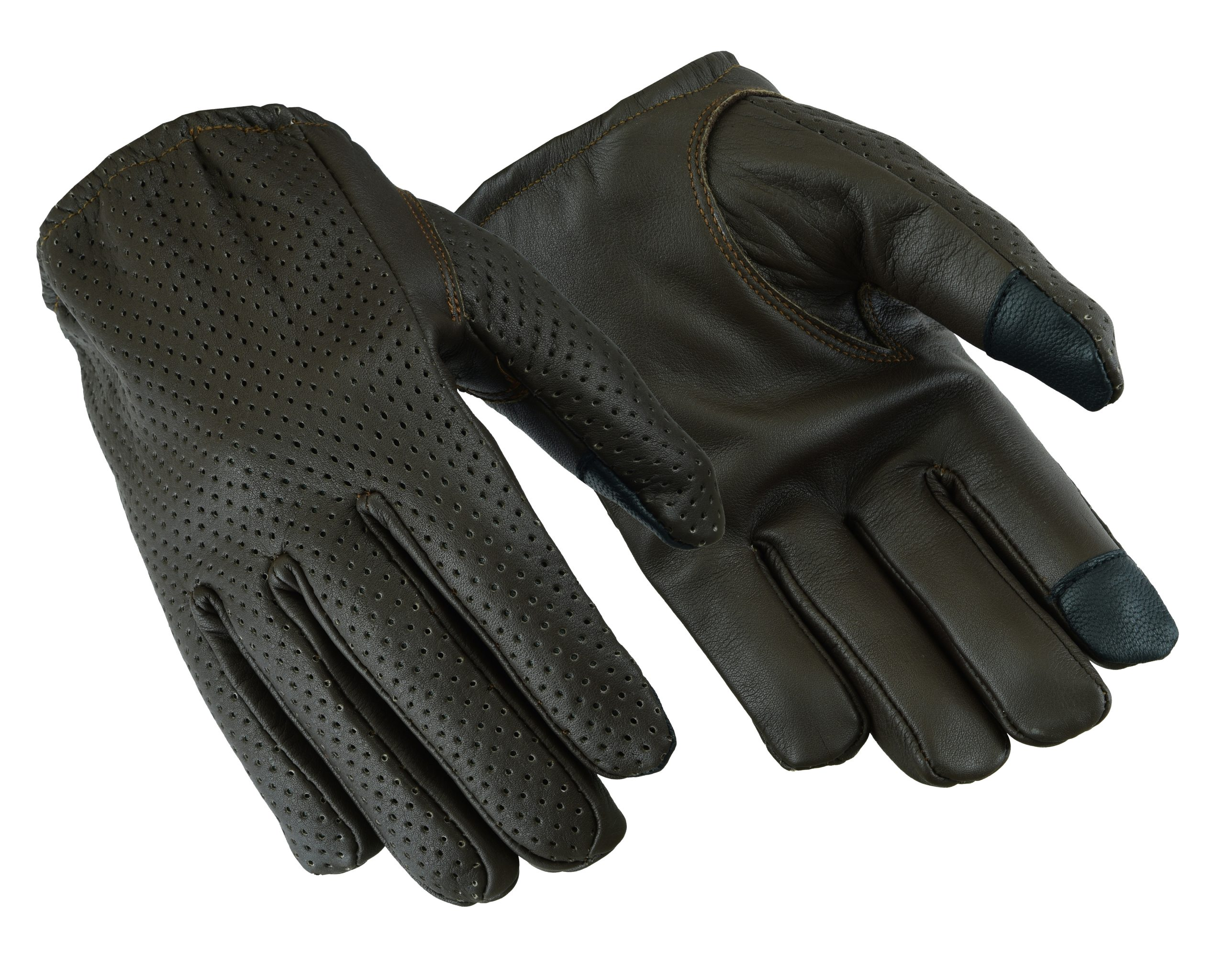 New Men/'s Police Gloves,Real Leather Brown//Black Driving Gloves Size:S//M//L//XL